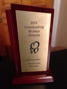 Harmonie Ponder recipient of Rising Star Award from Outstanding Women Awards